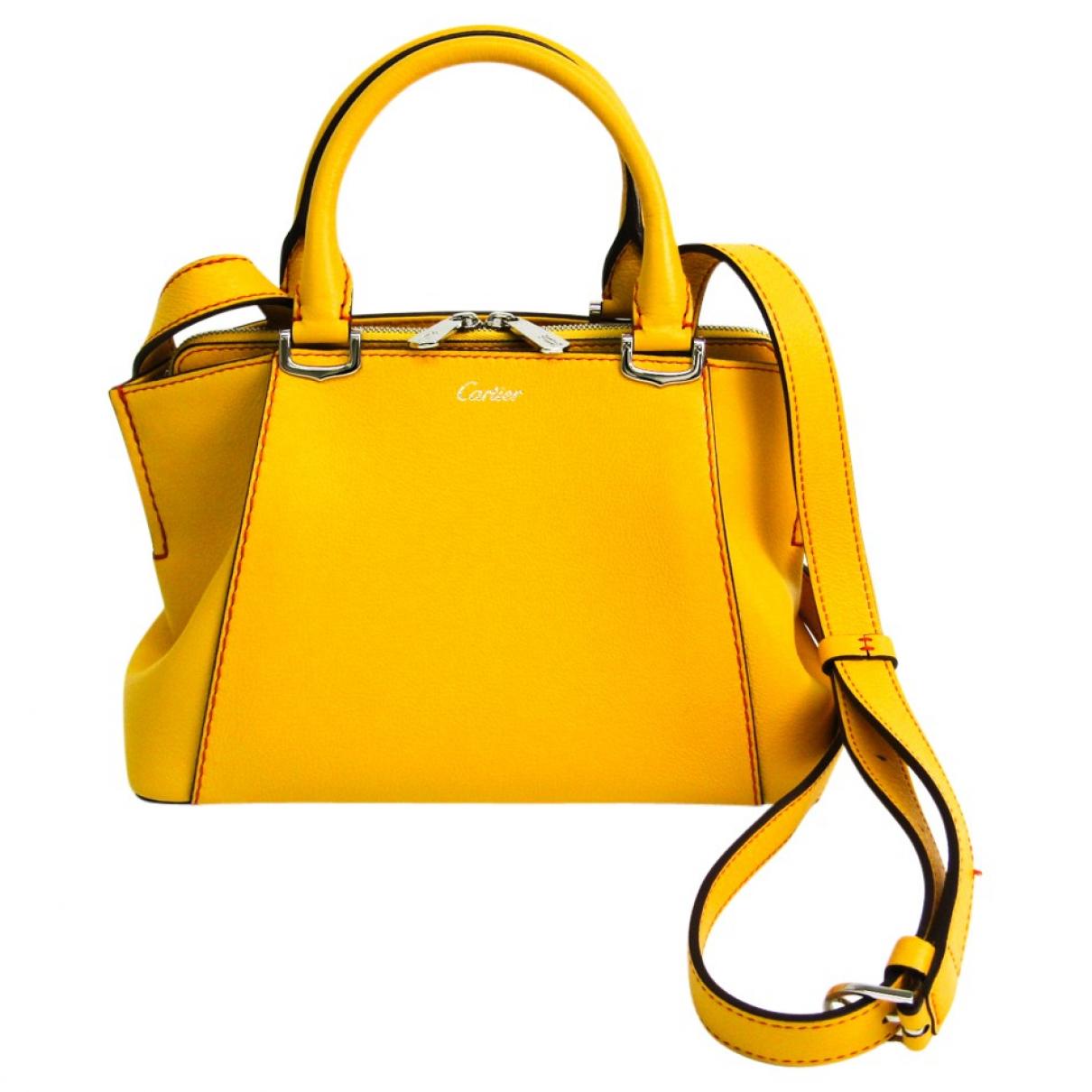 Cartier \N Yellow Leather handbag for Women \N