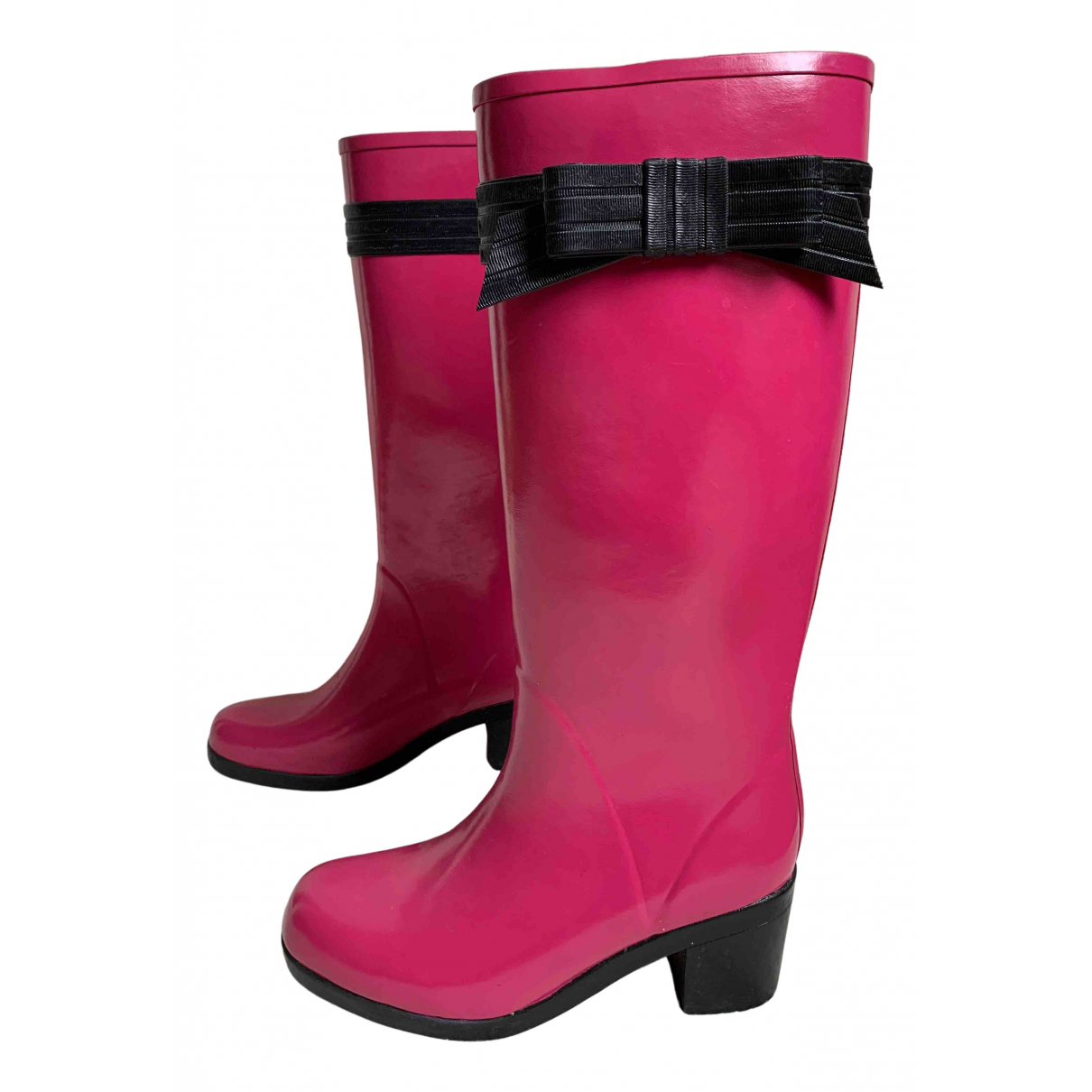 Kate Spade N Pink Rubber Boots for Women 7 US