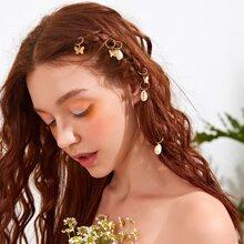 6pcs Shell Charm Hair Accessory