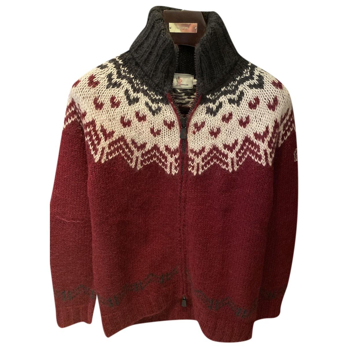 Moncler - Pulls.Gilets.Sweats   pour homme en laine - bordeaux