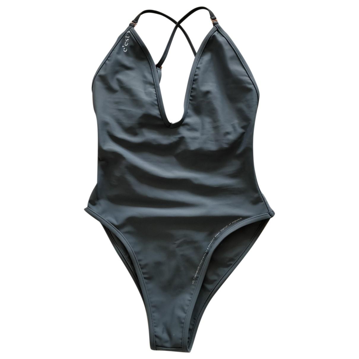 Non Signé / Unsigned \N Grey Lycra Swimwear for Women S International