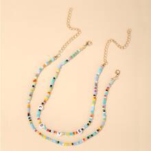 2 Stuecke Halsband mit Perlen