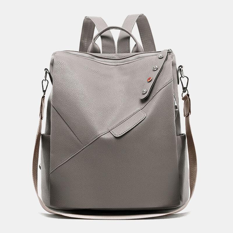Women Casual Solid Shoulder Bag Backpack