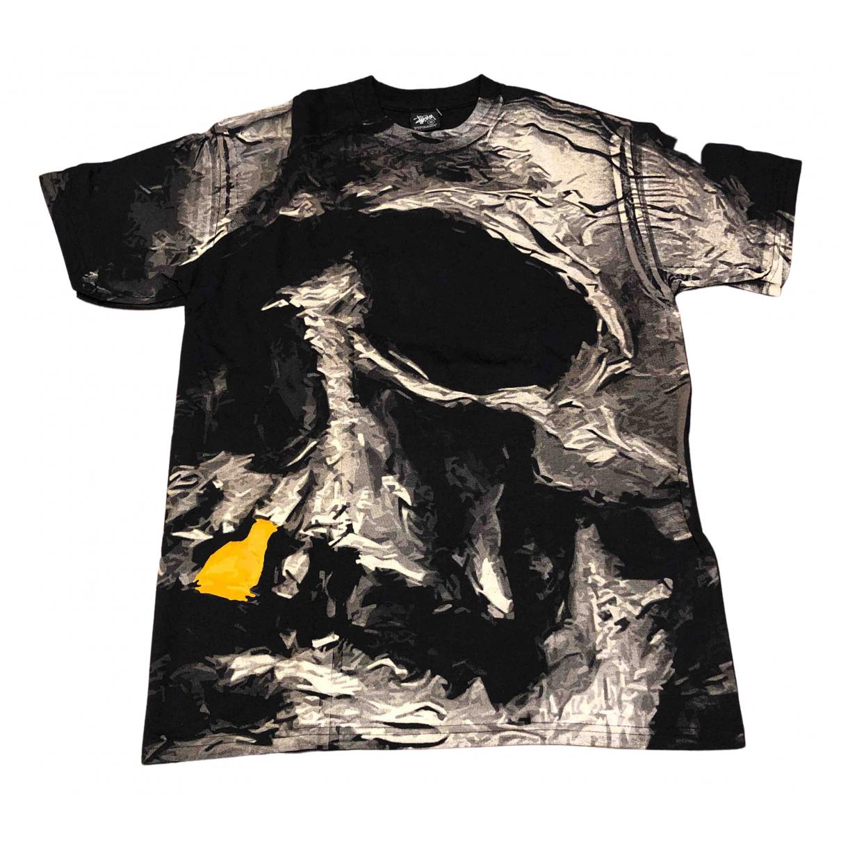 Stussy - Tee shirts   pour homme en coton - noir