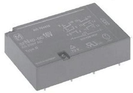 Panasonic , 12V dc Coil Non-Latching Relay 4PNO, DPST, 8A Switching Current PCB Mount