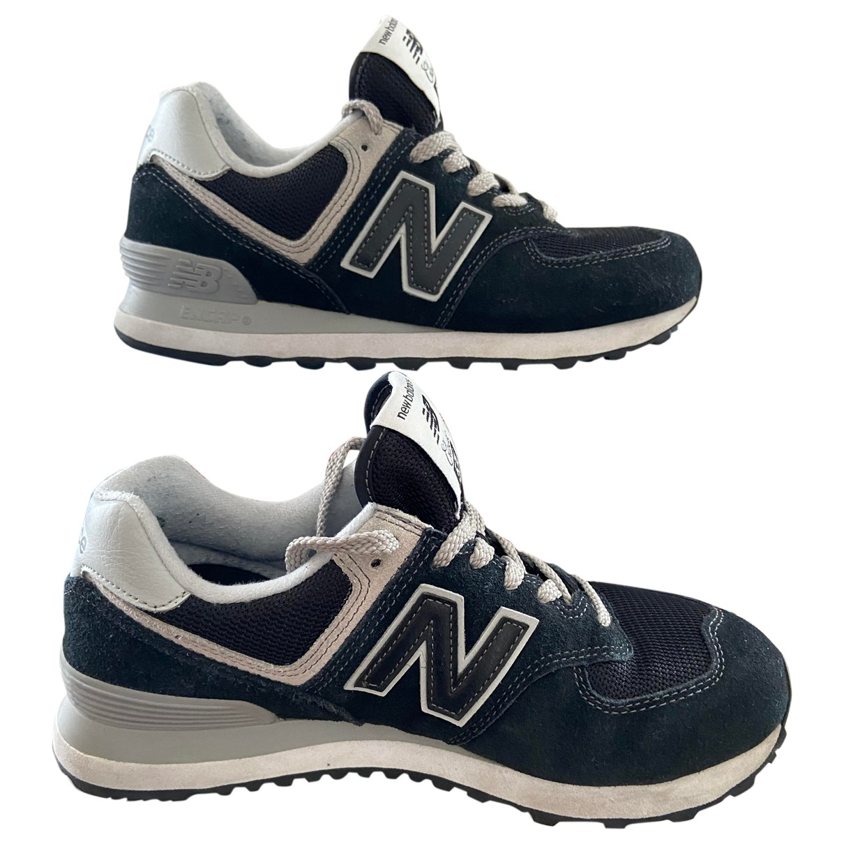 New Balance \N Black Leather Trainers for Women 37.5 EU