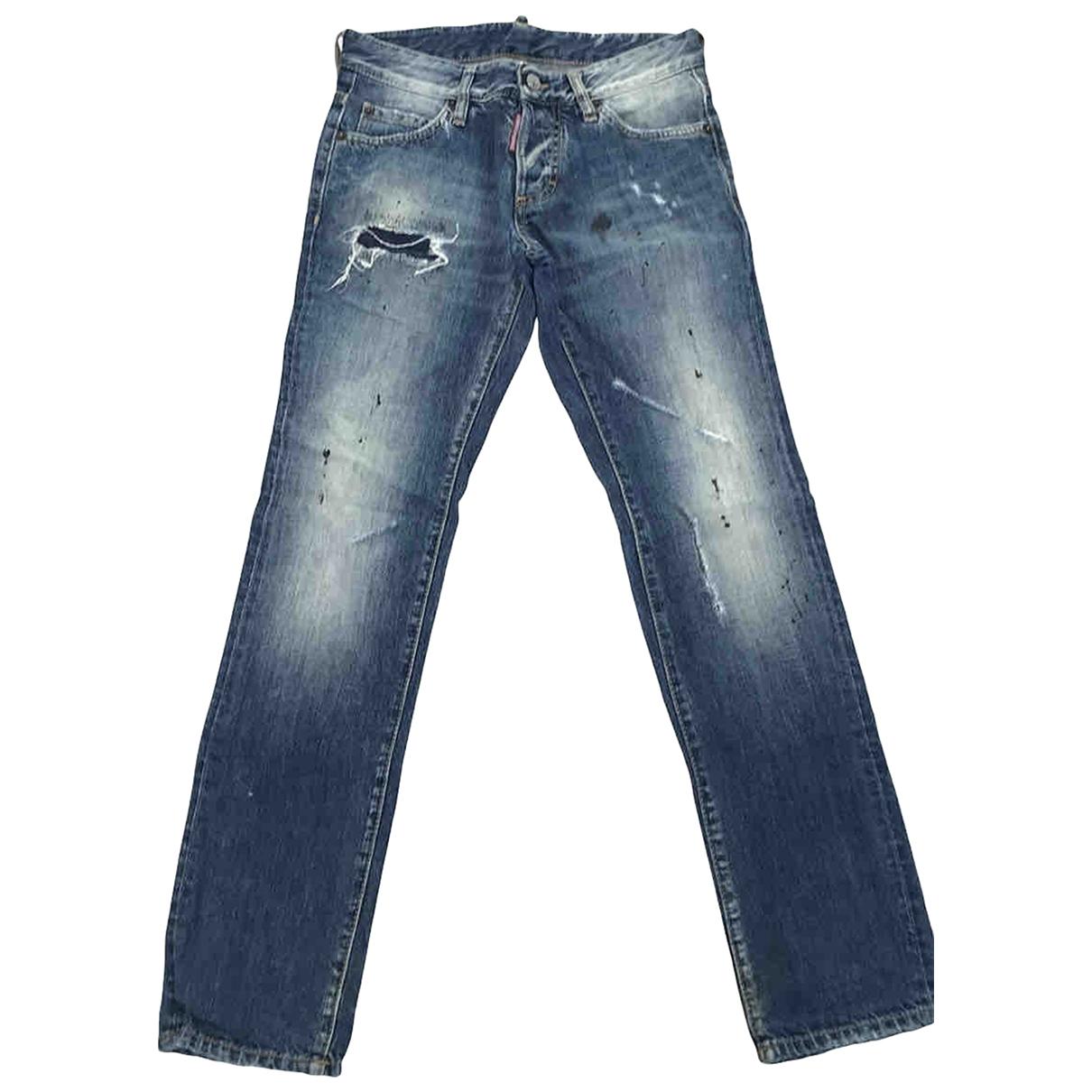 Dsquared2 \N Blue Cotton Jeans for Men 38 FR