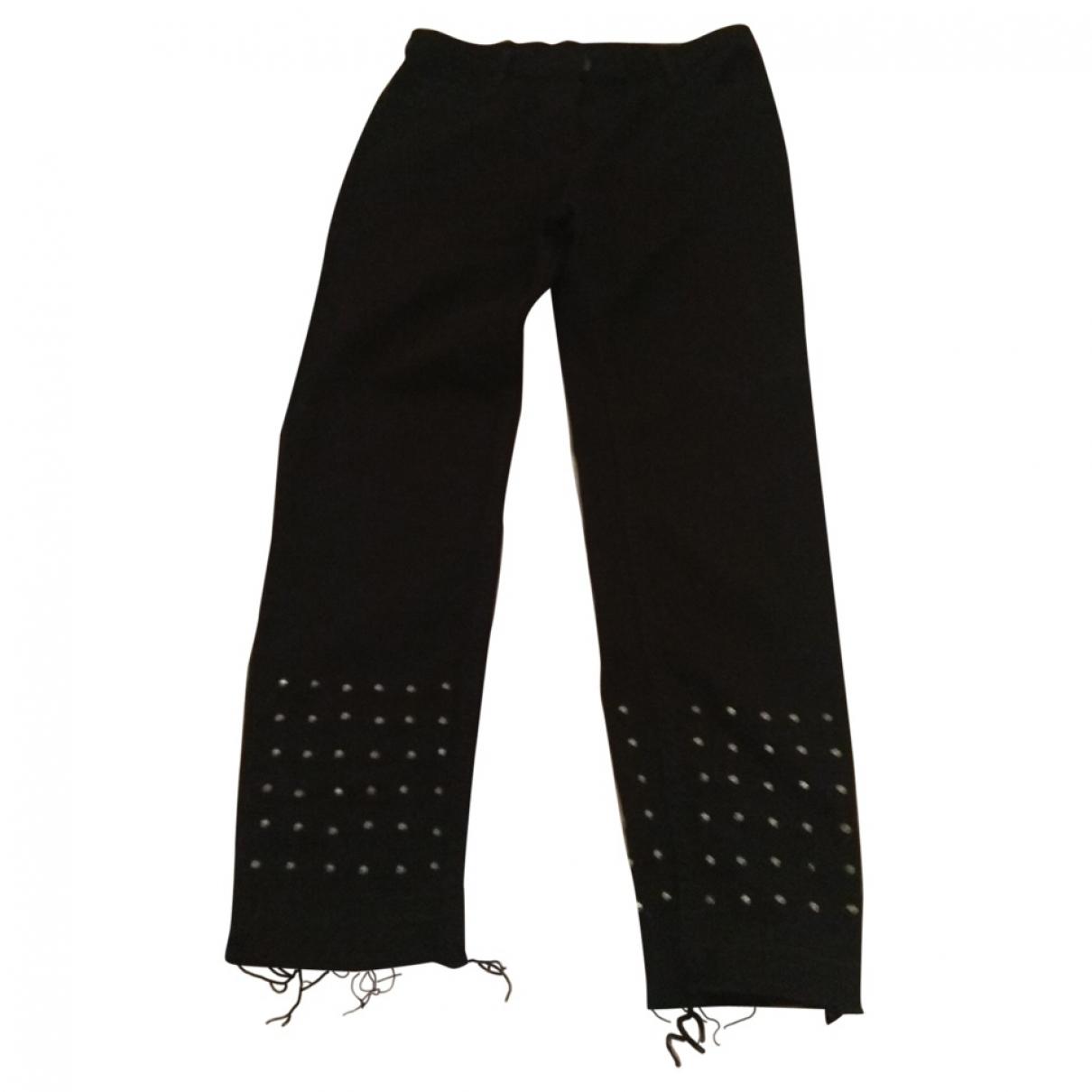 Sandro \N Black Denim - Jeans Jeans for Women 36 FR