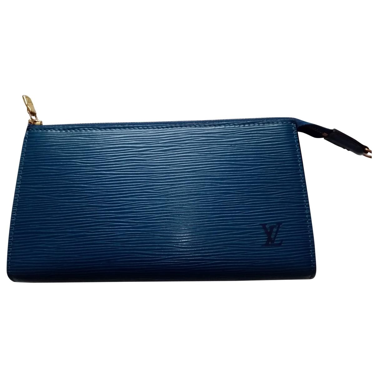 Louis Vuitton - Pochette Pochette Accessoire pour femme en cuir - bleu