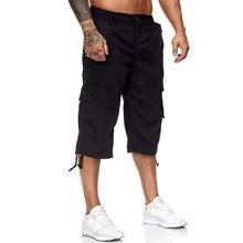 Maenner Cargo Shorts mit Klappe Taschen
