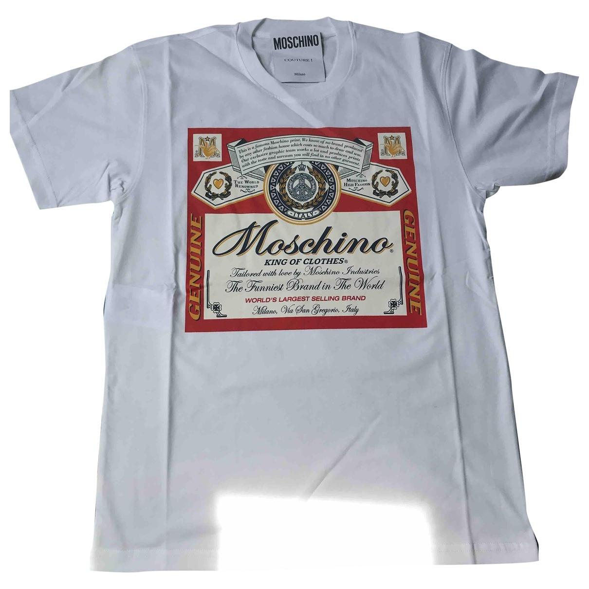 Moschino \N White Cotton T-shirts for Men XS International