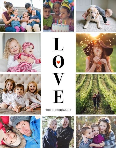 Love 11x14 Adhesive Poster, Home Décor -Love Picture Tile Border