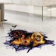 2sheets Halloween Pattern Floor Sticker