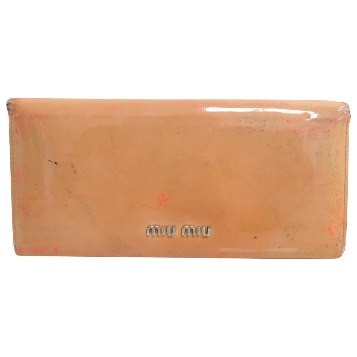 Miu Miu \N Beige Patent leather wallet for Women \N