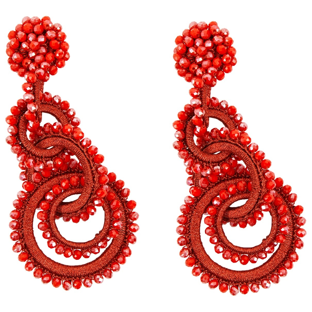 Bibi Marini \N Red Pearls Earrings for Women \N