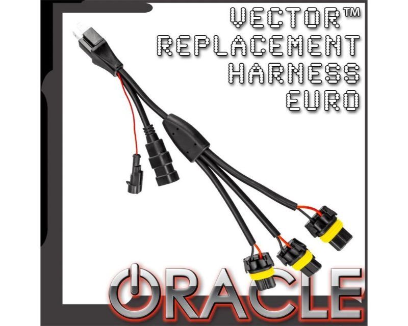 Oracle Lighting 5831-504 VectorÖ Replacement Headlight Wiring Harness Pair - Euro Model JEEP Wrangler JK 2007-2017