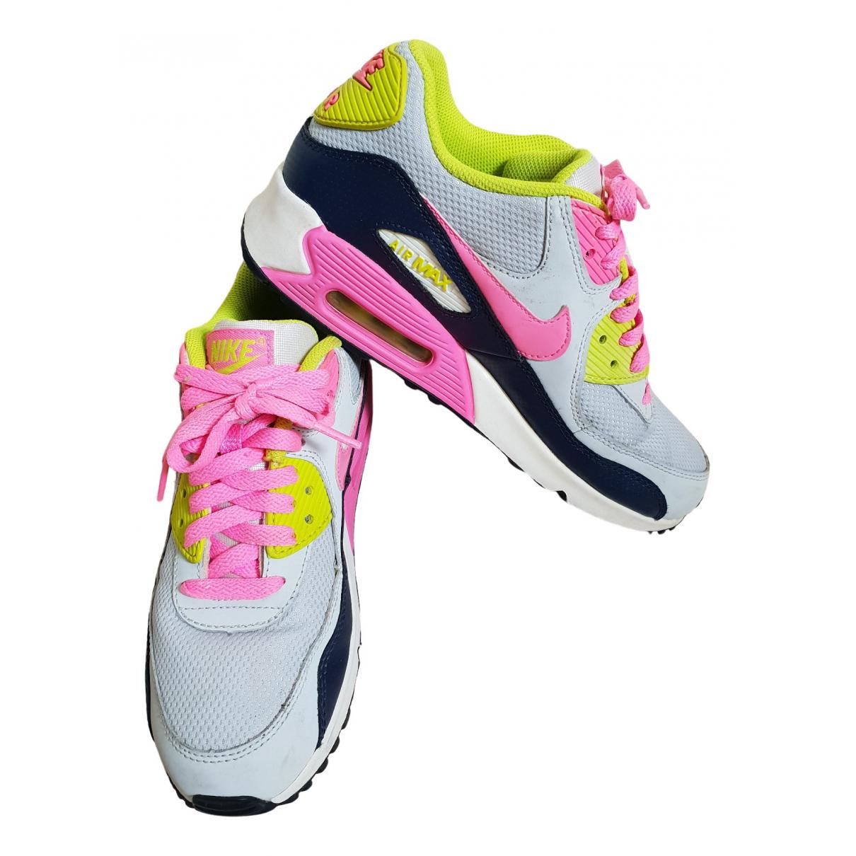 Nike - Baskets Air Max 90 pour femme en toile - multicolore
