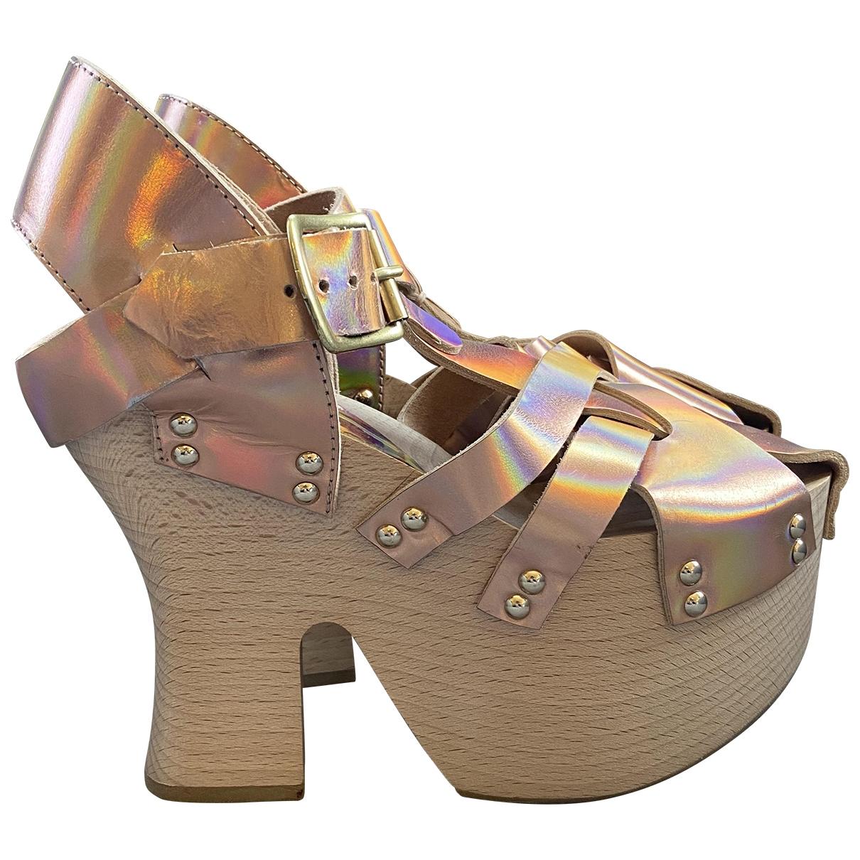 Vivienne Westwood \N Metallic Leather Sandals for Women 36 EU