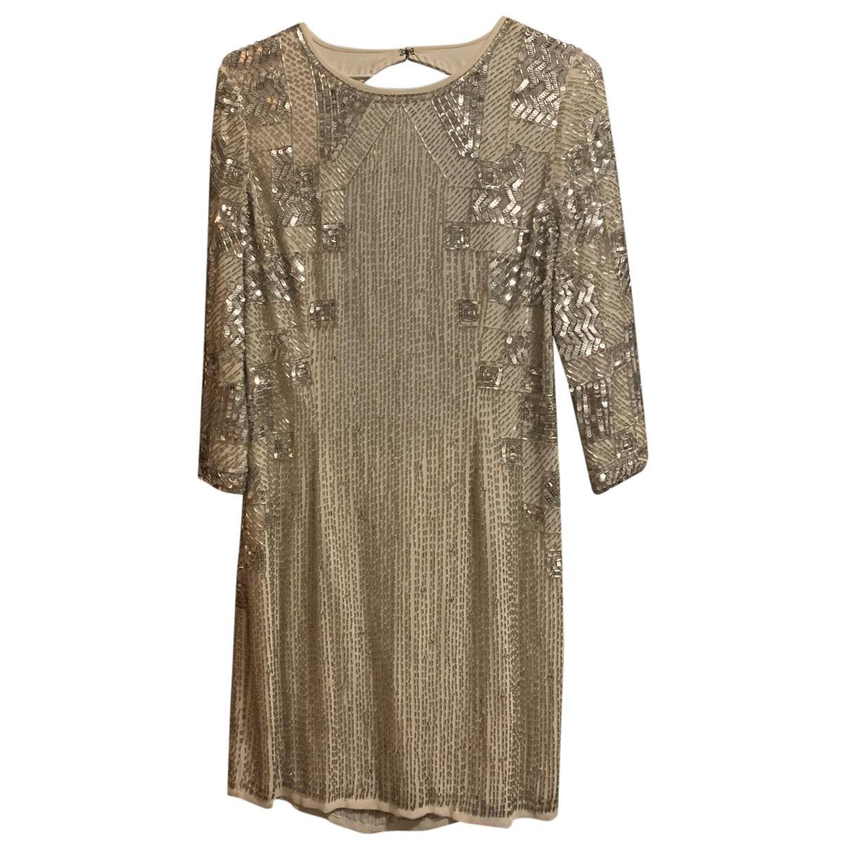 Tophop \N Kleid in  Metallic Viskose