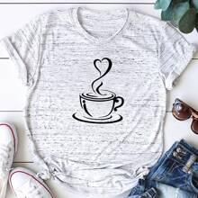 Plus Graphic Print Short Sleeve Tee