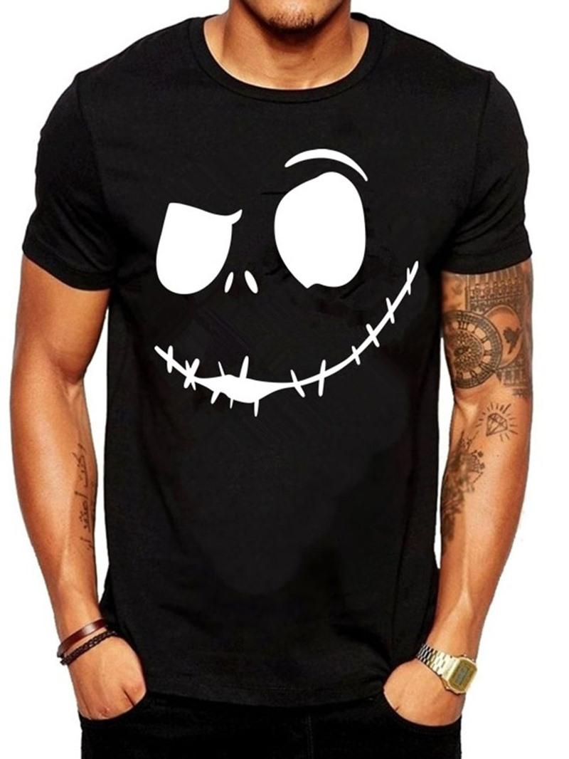 Ericdress Round Neck Print Short Sleeve Pullover Men's T-shirt