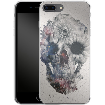 Apple iPhone 8 Plus Silikon Handyhuelle - Floral Skull 2 von Ali Gulec