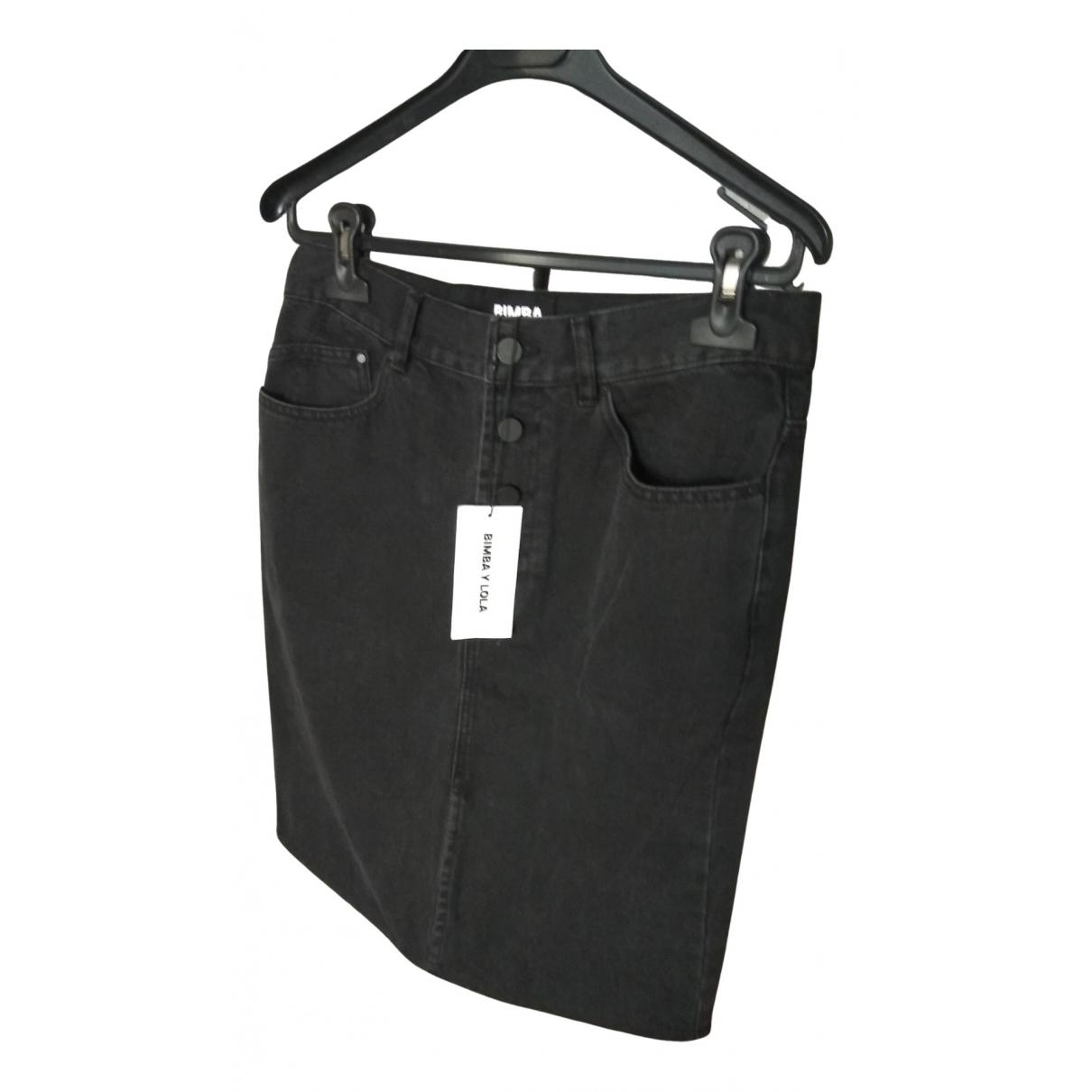 Bimba Y Lola - Jupe   pour femme en coton - elasthane - gris