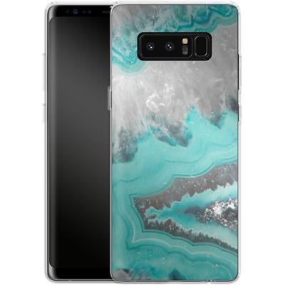 Samsung Galaxy Note 8 Silikon Handyhuelle - Water Agate von Emanuela Carratoni