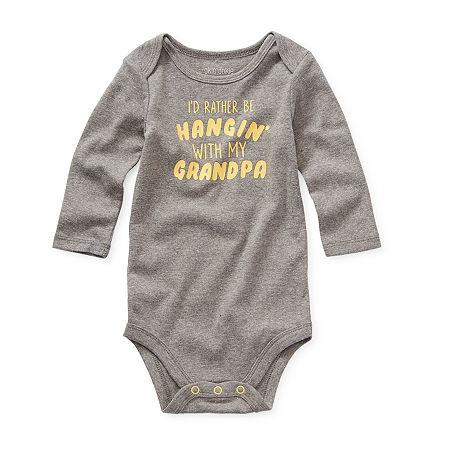 Okie Dokie Baby Boys Bodysuit, 18 Months , Gray
