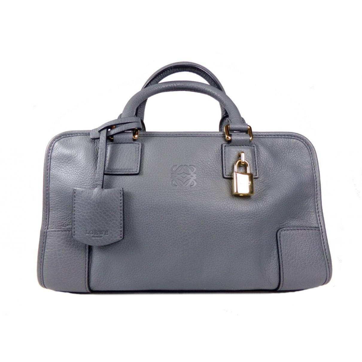 Loewe Amazona Grey Leather handbag for Women \N
