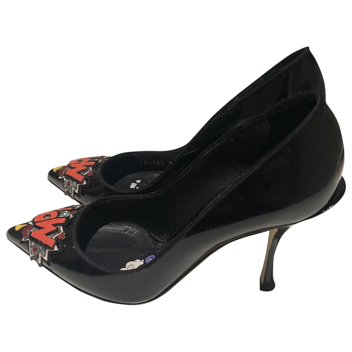 D&g \N Black Patent leather Heels for Women 37 EU