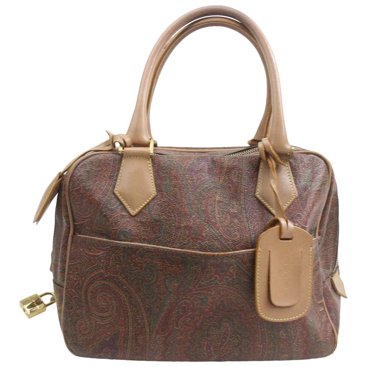 Etro \N Handtasche in  Braun Synthetik