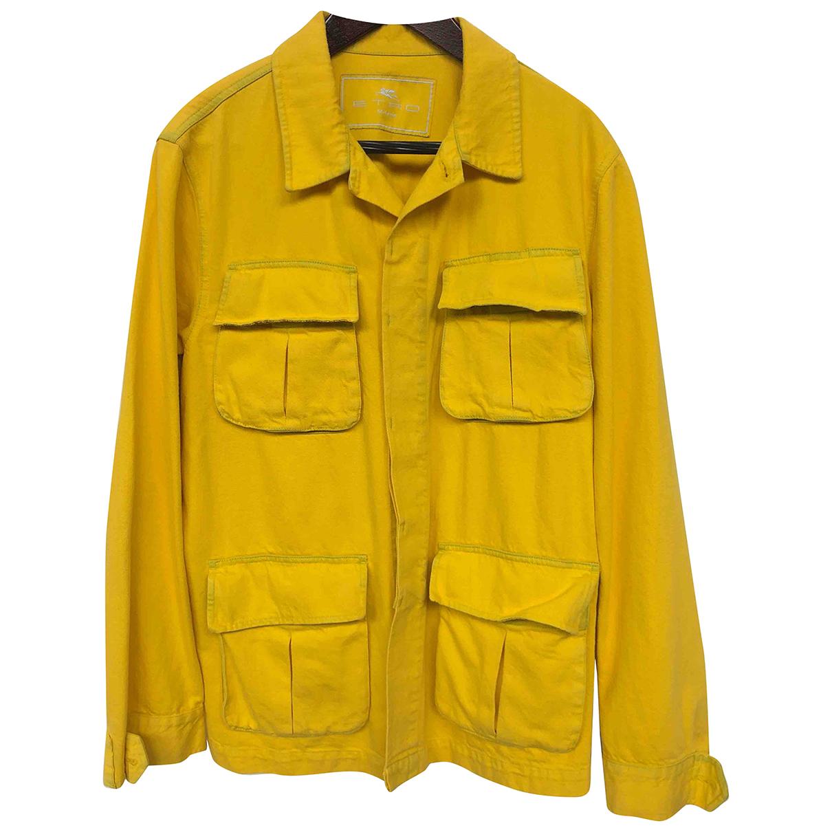 Etro N Yellow Cotton jacket  for Men L International