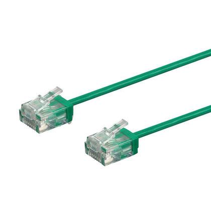 Câble de brassage Ethernet toronné Micro SlimRun 550MHz 36AWG Cat6 UTP - Monoprice® - Vert, 7pi