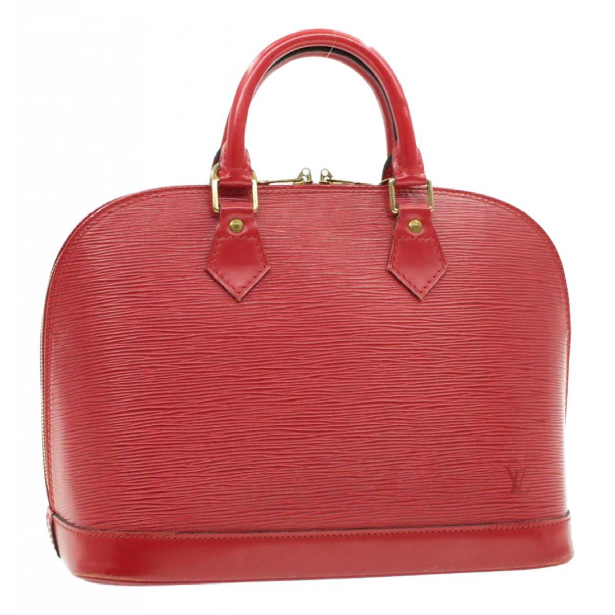 Louis Vuitton Alma Red Leather handbag for Women N