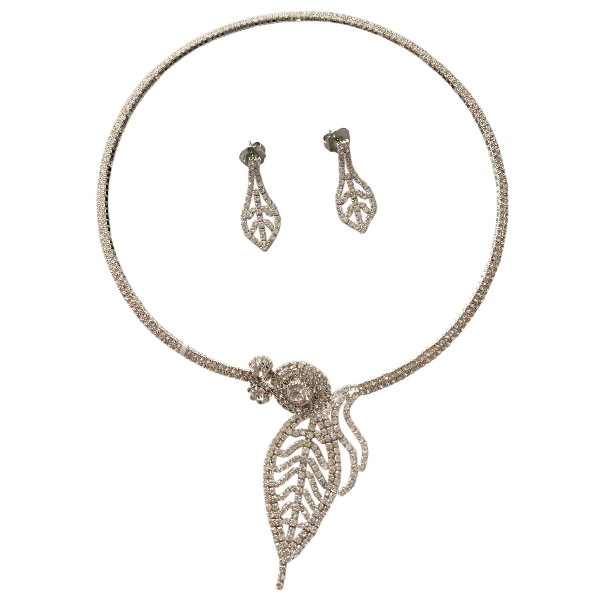 Non Signé / Unsigned N Silver Metal Jewellery set for Women N