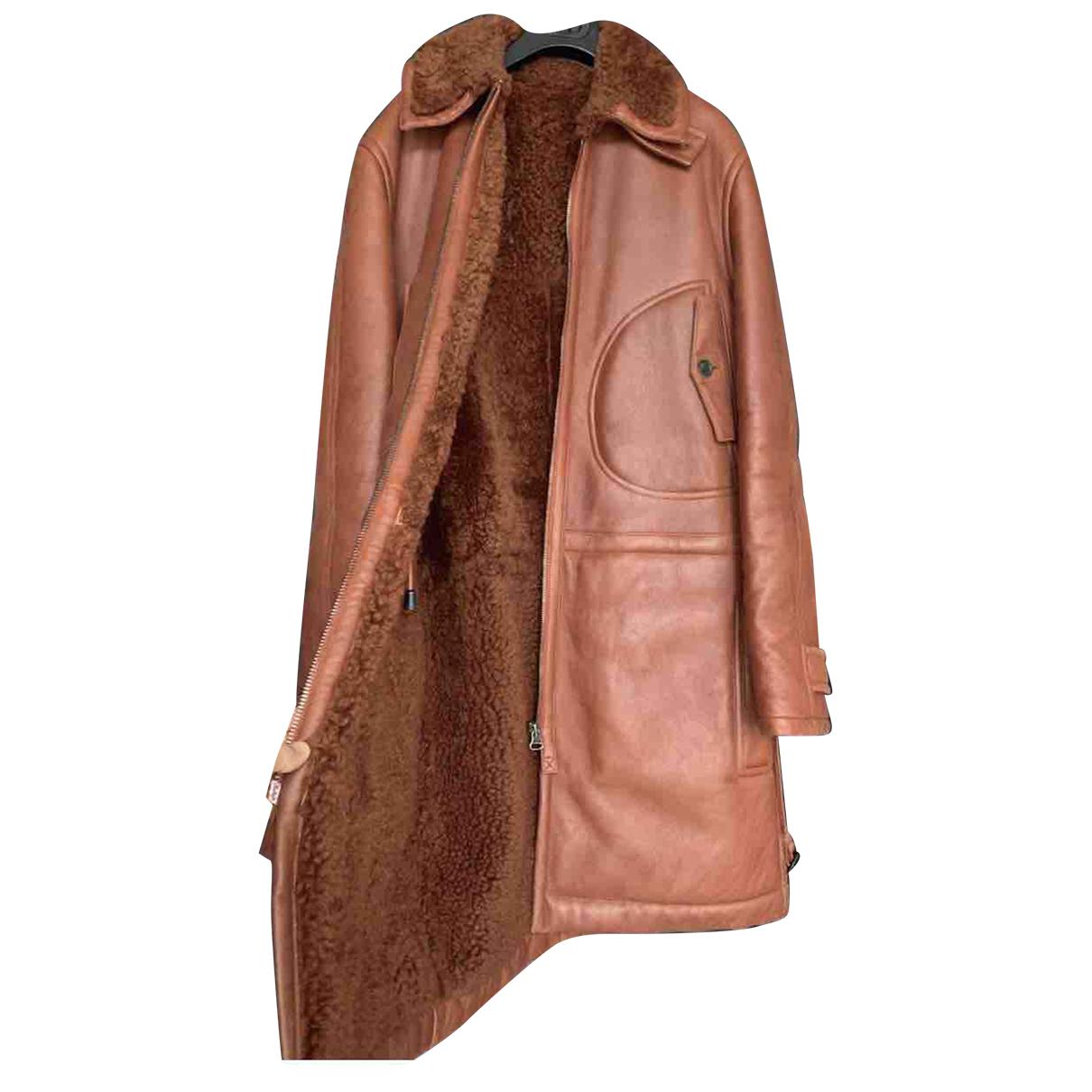 Louis Vuitton - Manteau   pour homme en cuir - rouge
