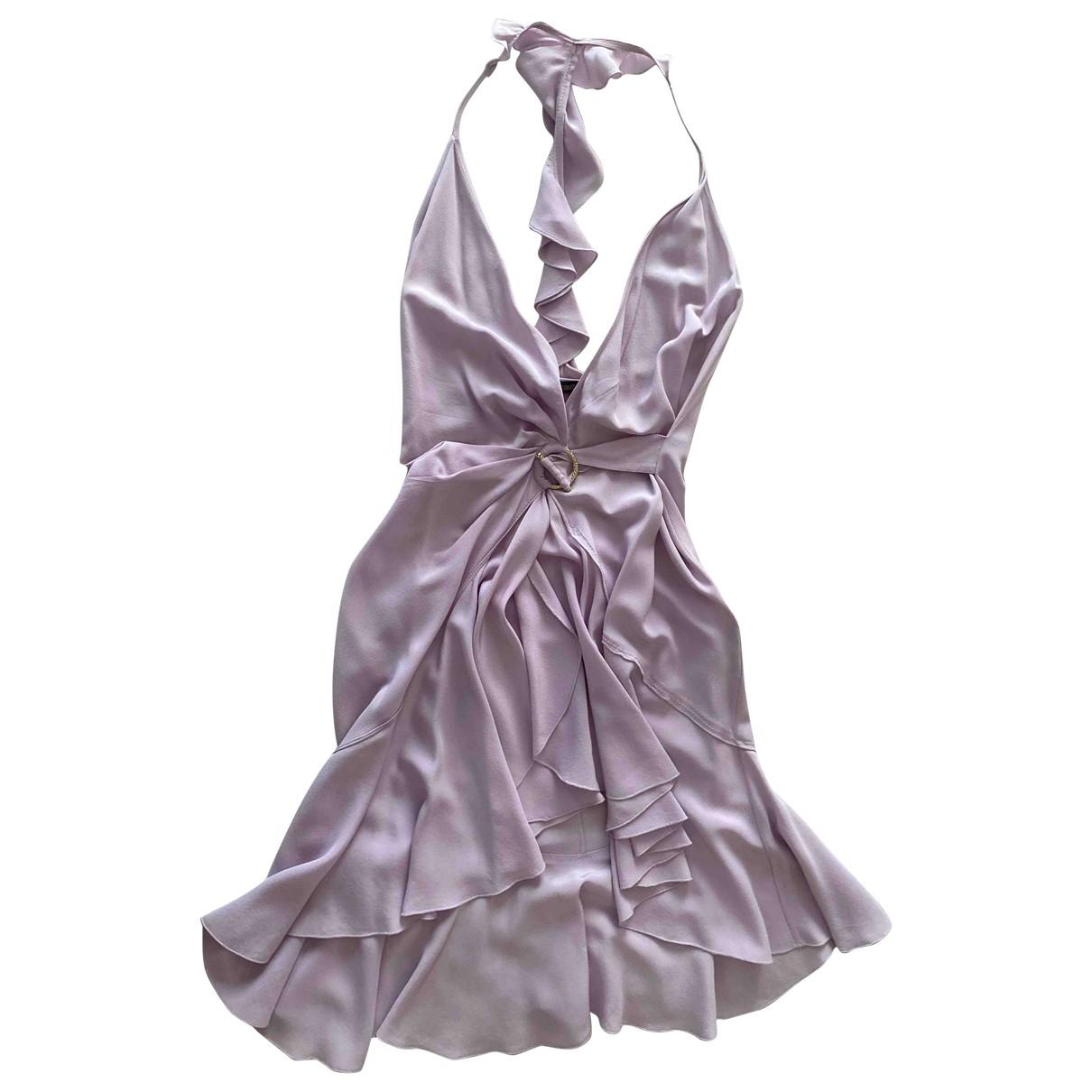 Roberto Cavalli \N Purple Silk dress for Women 42 IT