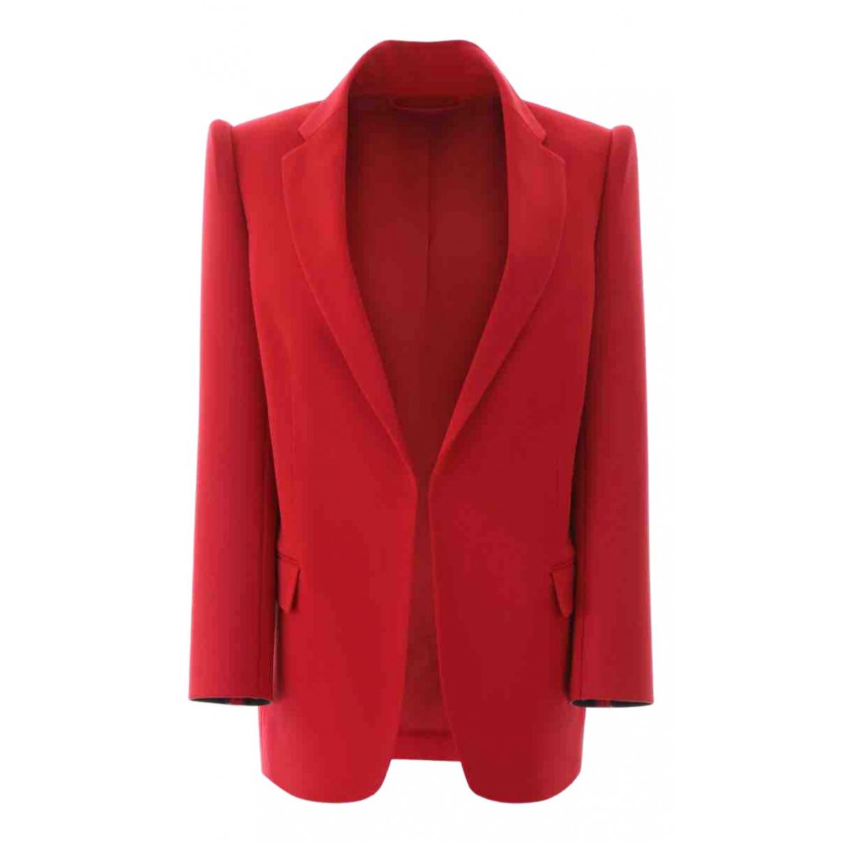 Balenciaga \N Jacke in  Rot Polyester