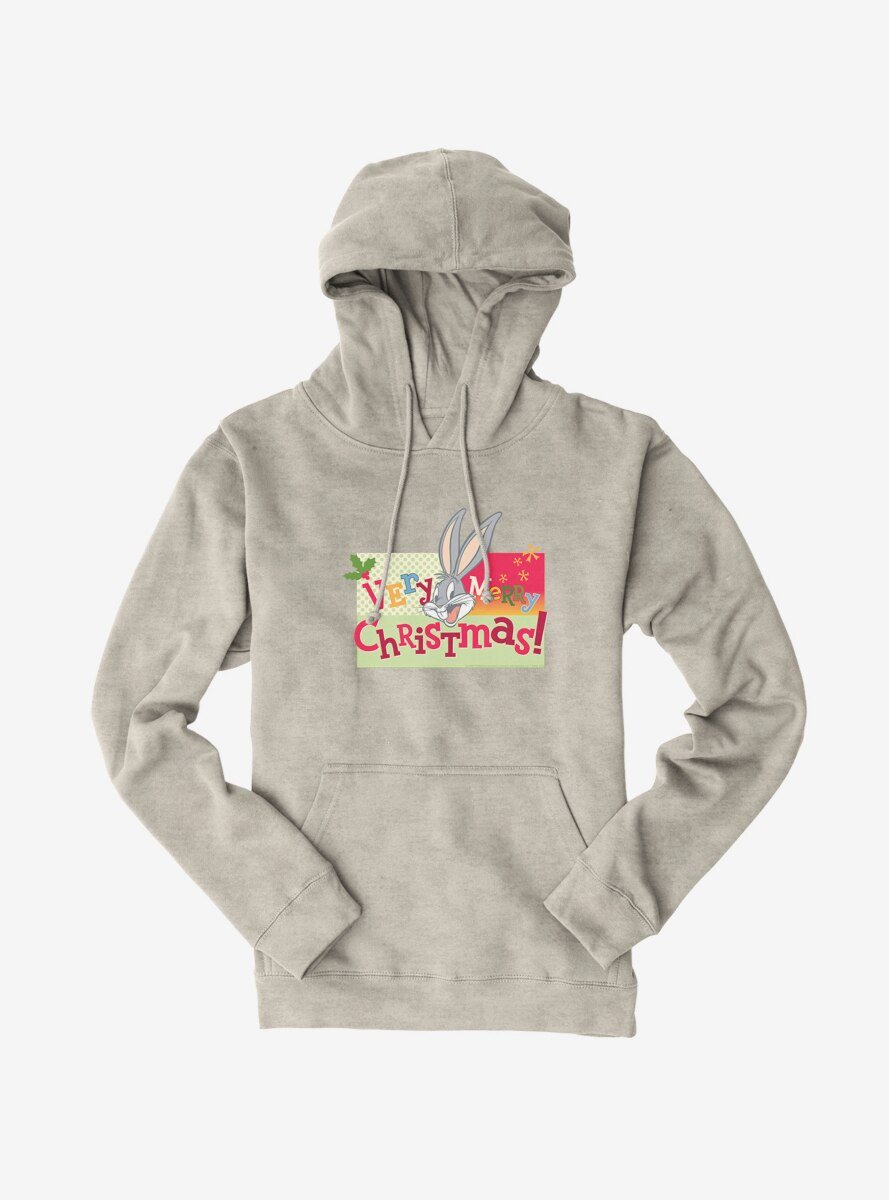 Looney Tunes Holiday Bugs Bunny Very Merry Christmas Hoodie