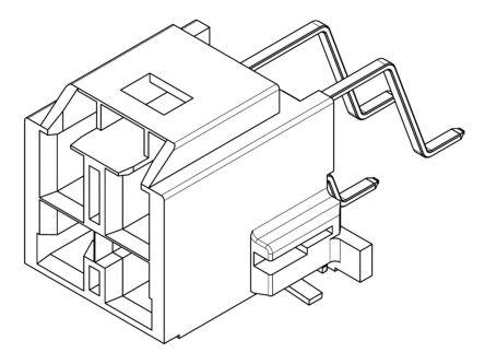 Molex , CP-6.5, 203555, 4 Way, 2 Row, Right Angle PCB Header (125)