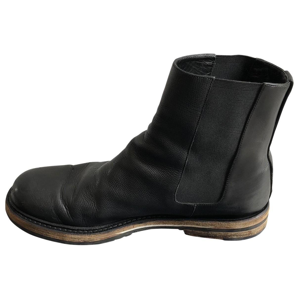 Dior \N Black Leather Boots for Men 41 EU