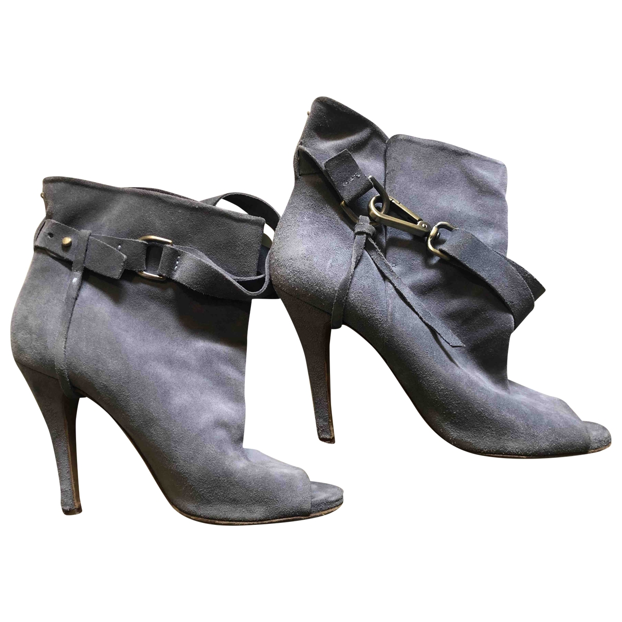 Maison Martin Margiela - Boots   pour femme en suede - bleu
