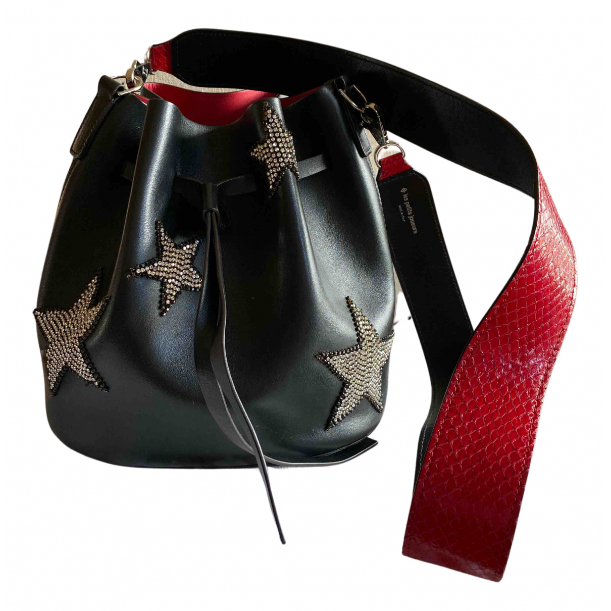 Les Petits Joueurs N Black Leather handbag for Women N