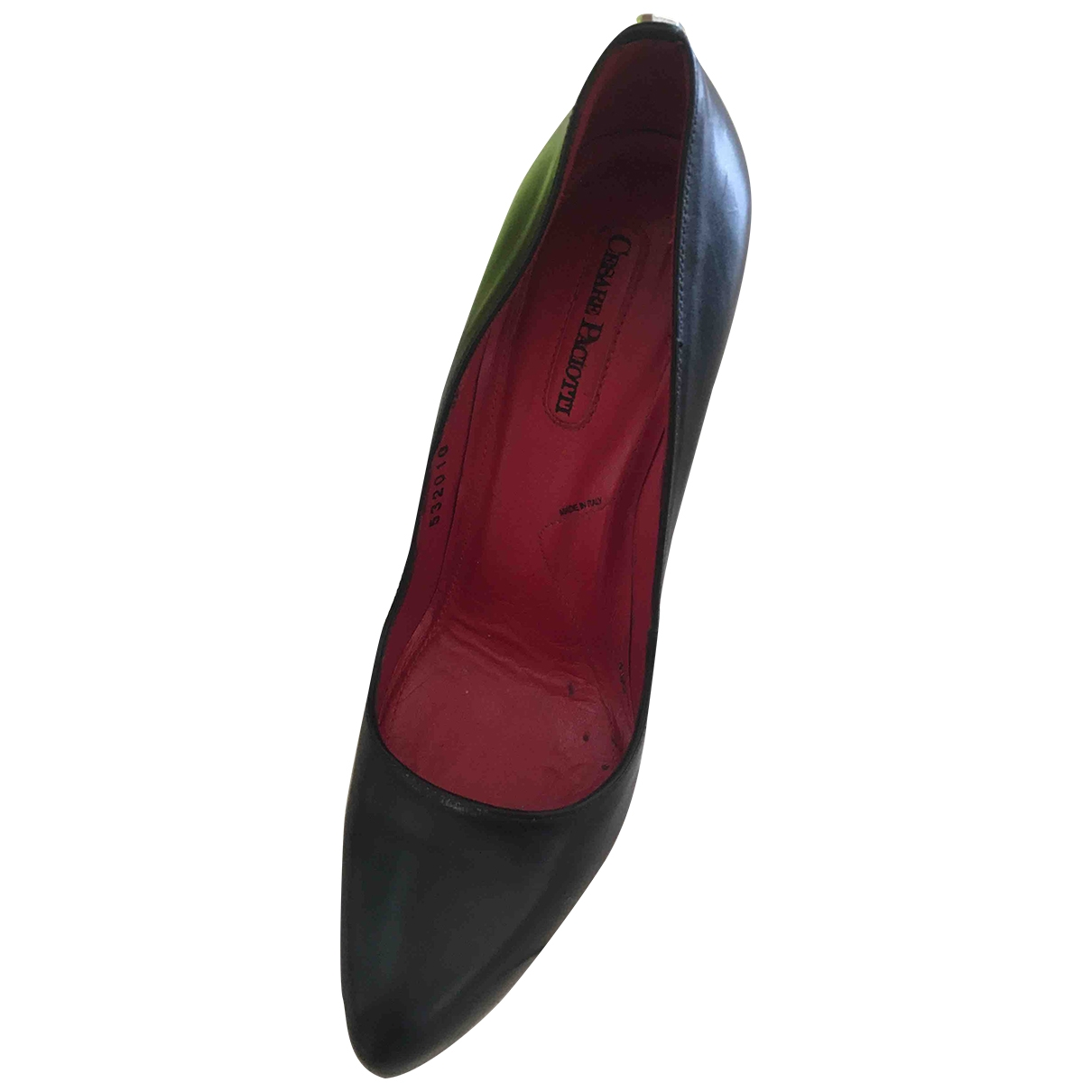 Cesare Paciotti \N Black Leather Heels for Women 36 EU