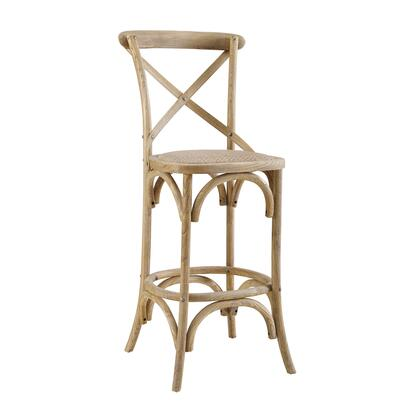 CS031GRY01ASU Roxy Collection Counter Height Stool with Rustic Style and Elm Wood Frame in Grey