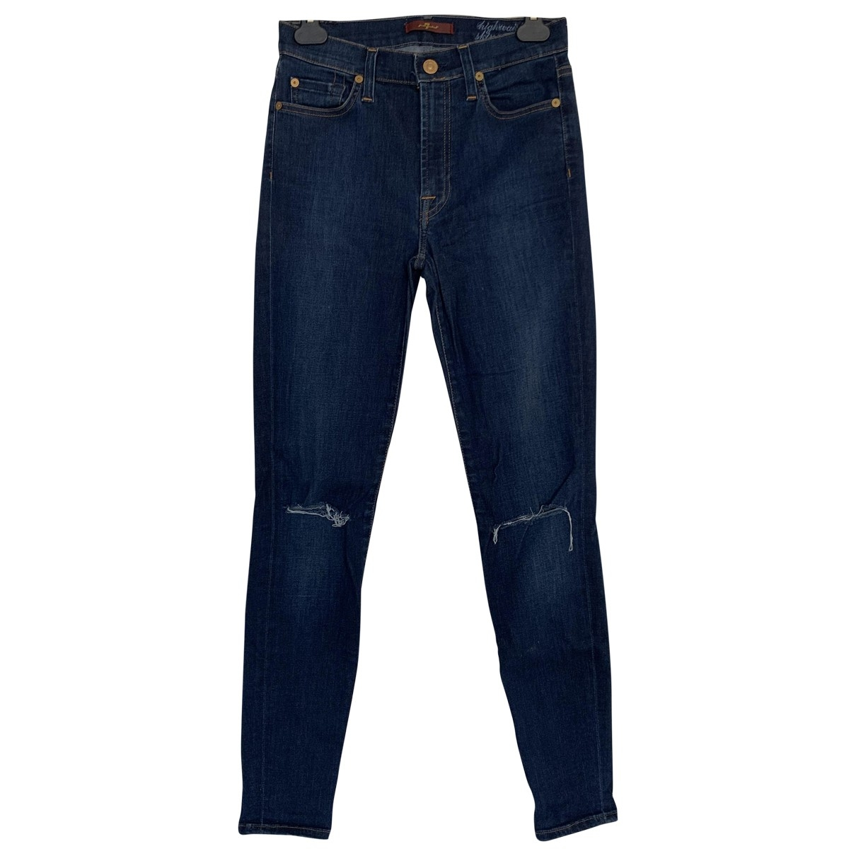 7 For All Mankind \N Blue Cotton Jeans for Women 27 US