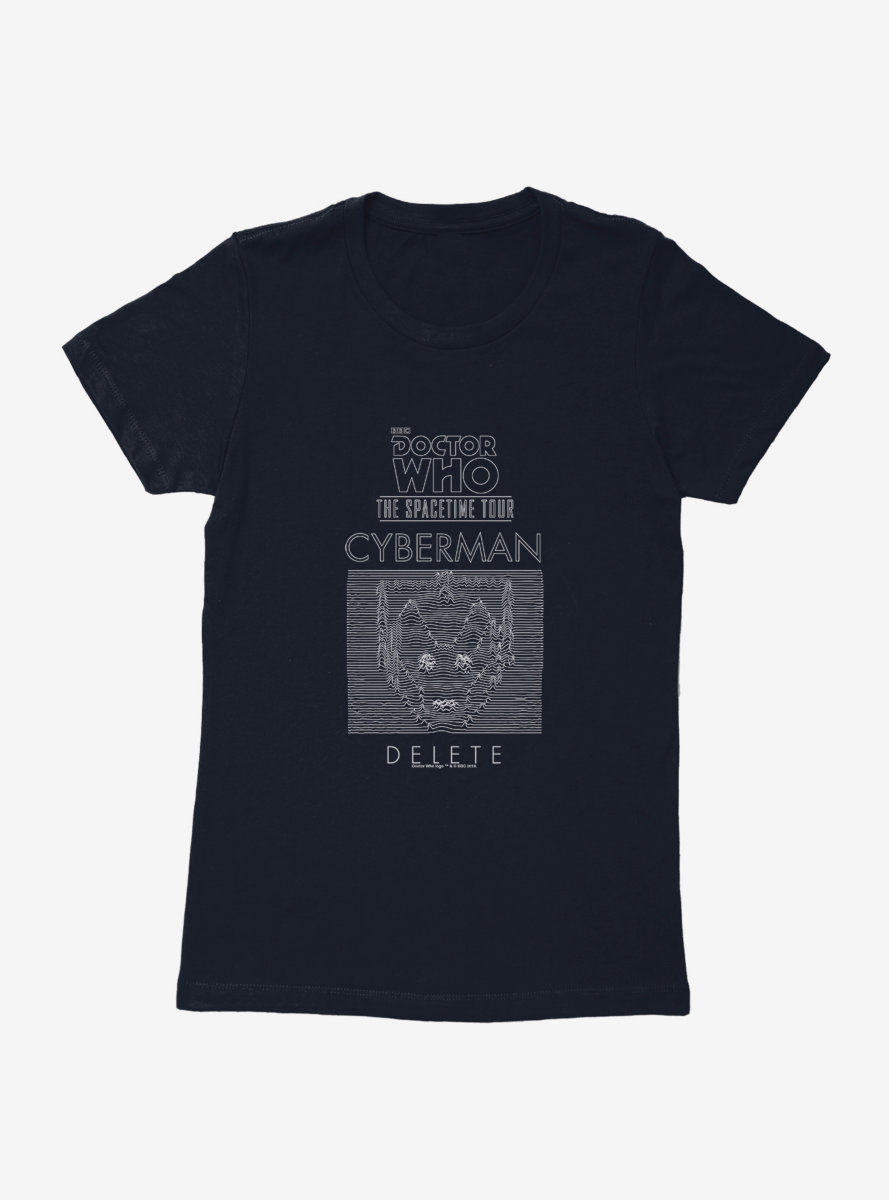 Doctor Who Cybermen The Spacetime Tour Womens T-Shirt