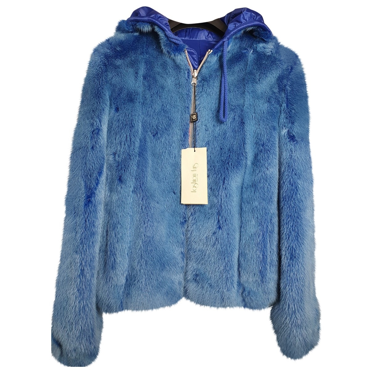 - Veste   pour femme en vison - bleu