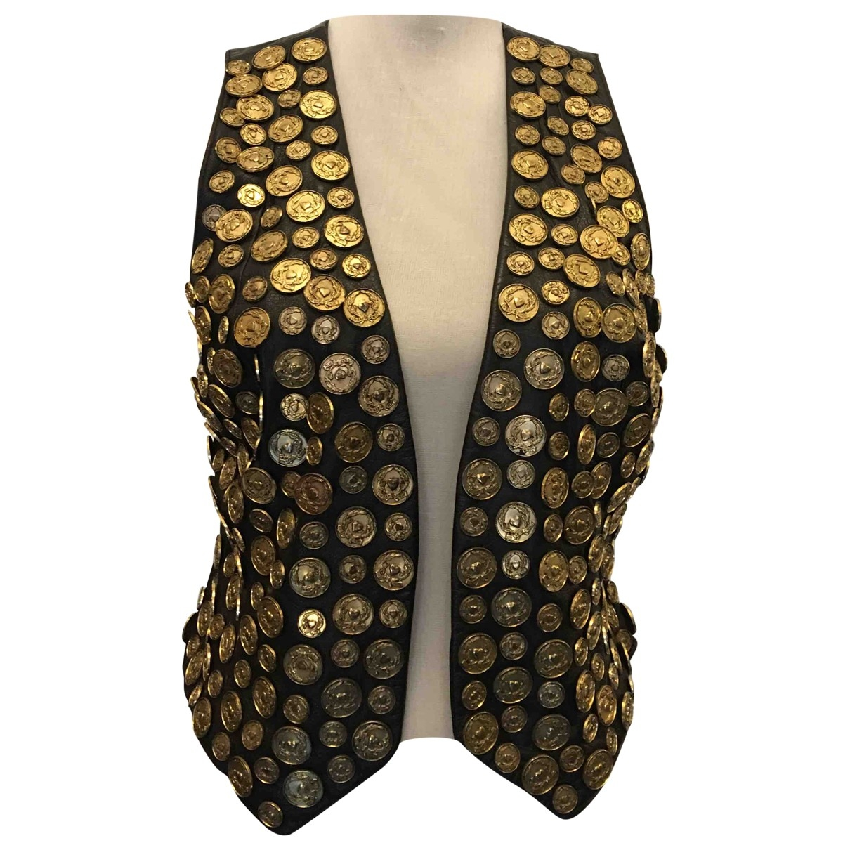 Moschino Cheap And Chic \N Gold Leather jacket for Women 44 IT